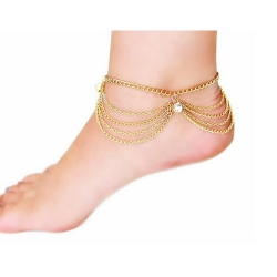 Traditional Multi Layer Chain Anklets
