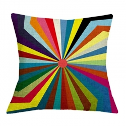 Geometric Pattern Jute Cushion Covers