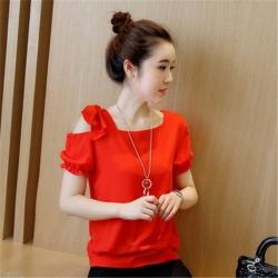 Designer Sleeve Cut Shoulder Sweet Style Top
