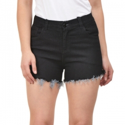 Littledesire Denim Black Stretchable Short