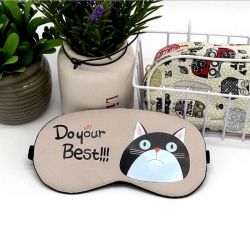 Littledesire Cute Cat Printed  Sleeping Eye Mask