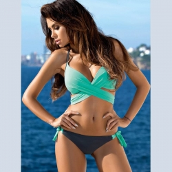 Littledesire Two Piece Cross Halter Swimwear Bikini Sexy Set