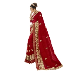 Littledesire Georgette Silk Embroidered Work Saree