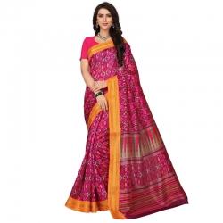 Littledesire  Silk Patta Printed Saree With Blouse