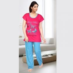 Littledesire Cotton Printed Women's Night Suit