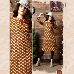 Littledesire Printed Straight Cotton Kurta