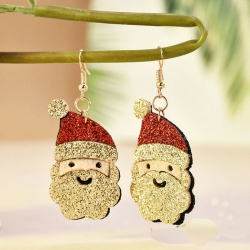 Christmas Santa Glitter Stylish Earrings