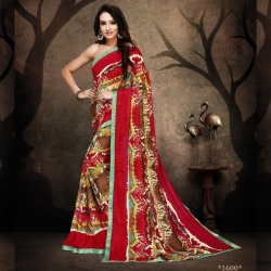 Littledesire Rennial Printed Saree With Blouse