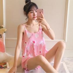 Printed Cotton Lycra Cami Top & Shorts Pajamas Set