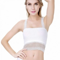 Women Lace Bra Wrapped Chest Crop Top