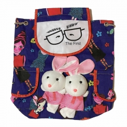Cute Rabbit Soft Shoulder Kids Picnic Travel Backpack 14 Inch