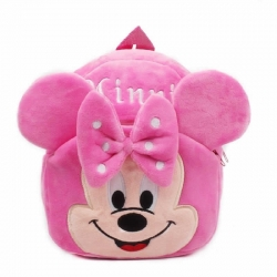 Cute Cartoon Soft Plush Minnie Pink Girl Backpacks