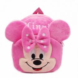 Cute Cartoon Soft Plush Minnie Pink Girl Backpacks