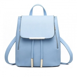 Stylish Sky Blue PU Backpack