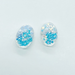 Sequins Glass Stud Earrings