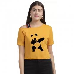 Panda Printed Half Sleeves Casual Top