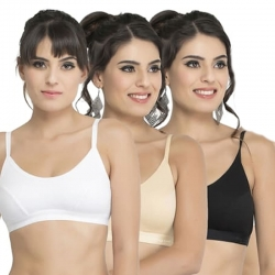 Women Seamless Stretch Yoga Sports Bra - 3 Pcs