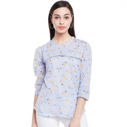 Littledesire Floral Printed Cotton Top
