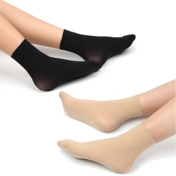 Littledesire Sexy Crystal Socks Without Thumb for Women - 4 Pairs