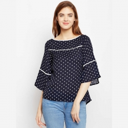 Littledesire Crepe Printed Women Top