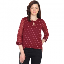 Littledesire Chiffon Printed Top
