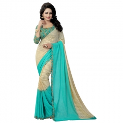 Littledesire Premium Georgette Printed Saree With Blouse