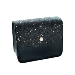 Sequins Pearl Cover Crossbody Messenger Shoulder Bag