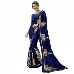 Littledesire Georgette Silk Designer Embroidered Saree