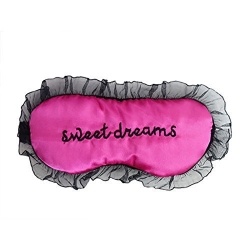 Lace Letters Cover Lightweight Silk Sleep Eye Mask