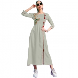 Littledesire A-Line Embroidered Stitched Kurta