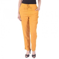 Littledesire Women Cotton Slub Best Stylish Solid Trouser