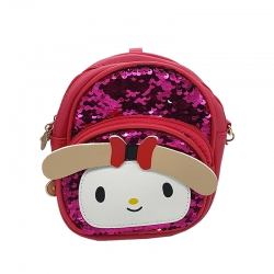 Littledesire Travel Sequins Glitter Shoulder kids Backpack - 7 inch
