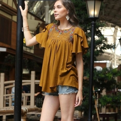 Littledesire Embroidered Work Stylish sleeve Top
