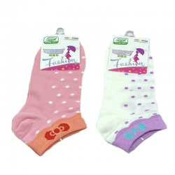 Littledesire Dot Print  Random Color  Women Cotton Socks 2 Pairs