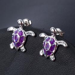 Littledesire Turtle Zinc Alloy Stud Earrings