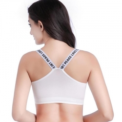 Letter Printed Bralette Padded Crop Top