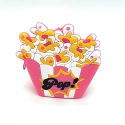Style Fashion Mini Popcorn Silicone Zipper Coin Wallet - 4 inch