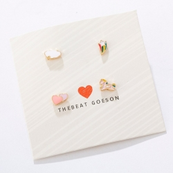 Creative Design Cute Rainbow Unicorn Small Earrings