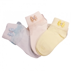 Lace Frilly Ruffle Girl Socks for Kids 6 to 8 Years 3 Pairs