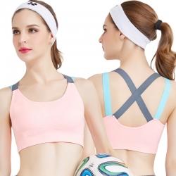 Cross Strap Gym Fitness Running Yoga Padded Sport Bra