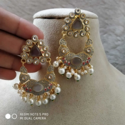 Chandbali Pearl Designer Earrings
