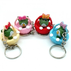 Cute Cat Basket Keychain Pack Of 4