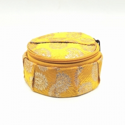 Round Jewellery Storage Box With Zip