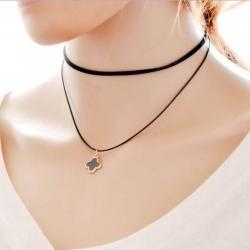 Black Velvet Belt Neck Strap Collar Short Pendant Necklace