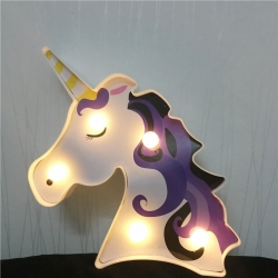 Unicorn Lamp LED Night Light 3D Painted Lamp Table Decoration