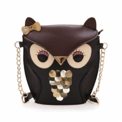 Splicing Color Cross Body Bag Owl Pattern