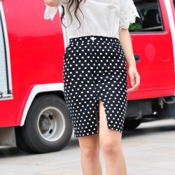 Retro Wind Polka Dot Stretchable Skirt