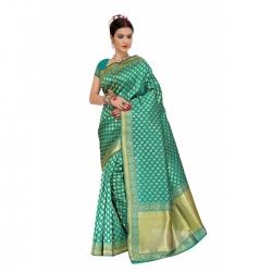 Art Silk Banarasi Saree With Blouse