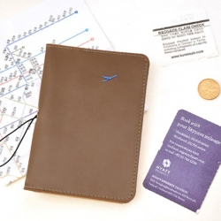 Khaki Colour PU Leather Passport Cover