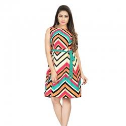 Littledesire Printed Sleeveless Short Dress